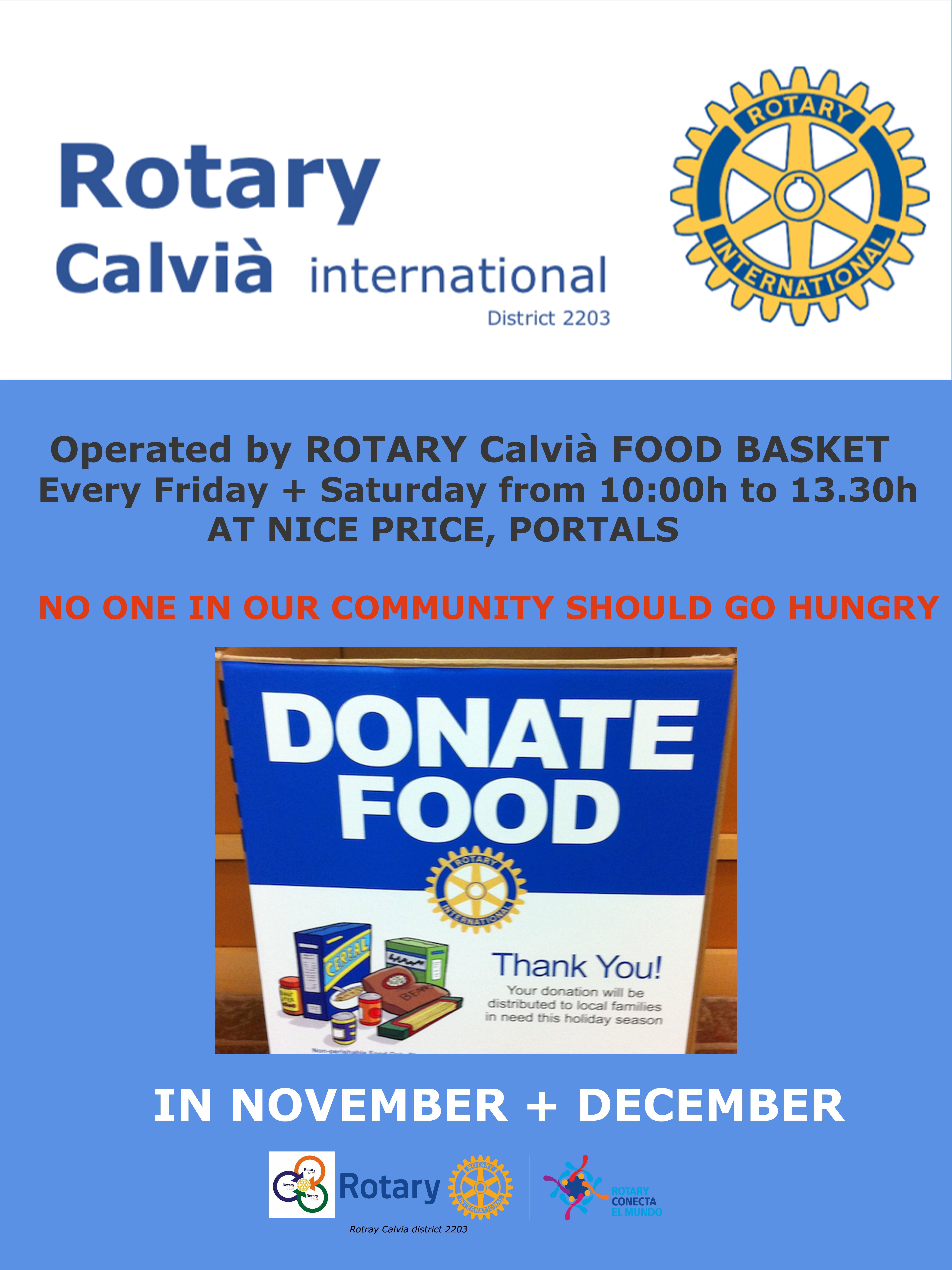 Rotary Food Basket Project started