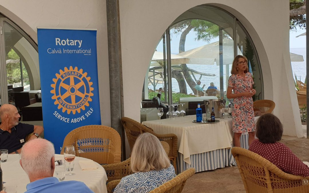 On Monday Rotary Clavia meeting new Guest